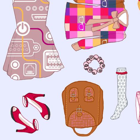 Wardrobe_ fabric by aka_flo on Spoonflower - custom fabric