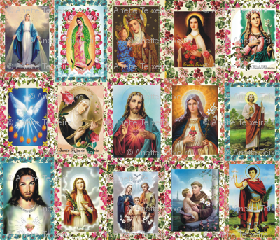 Catholic Saints and Images Collage