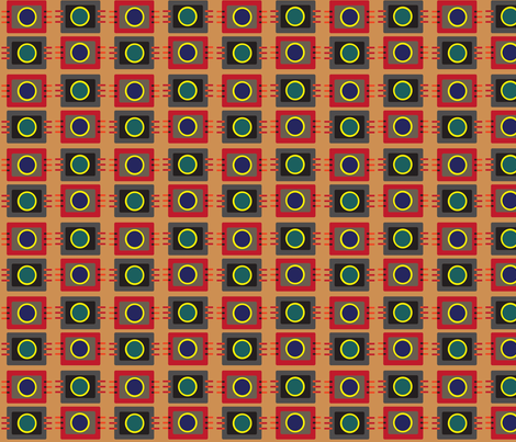 The Geek Machine No. 1 fabric by vanillabeandesigns on Spoonflower - custom fabric