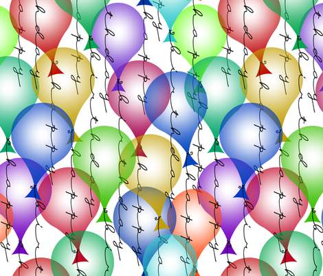 birthday balloons fabric by weavingmajor on Spoonflower - custom fabric