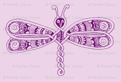 DragonflyZip - xl - deep purple &  lavender