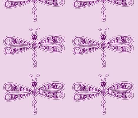 DragonflyZip - xl - deep purple &  lavender fabric by celttangler on Spoonflower - custom fabric