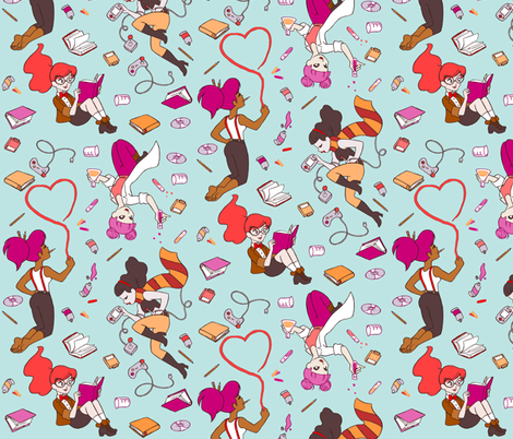 Geek Girls fabric by aimee on Spoonflower - custom fabric