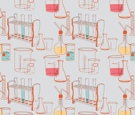 Reaction Orange on Gray fabric by otterspiel on Spoonflower - custom fabric