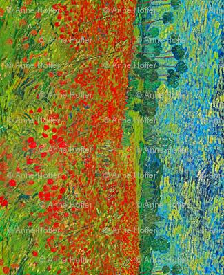 Van Gogh: Poppy Field Seamless Repeat