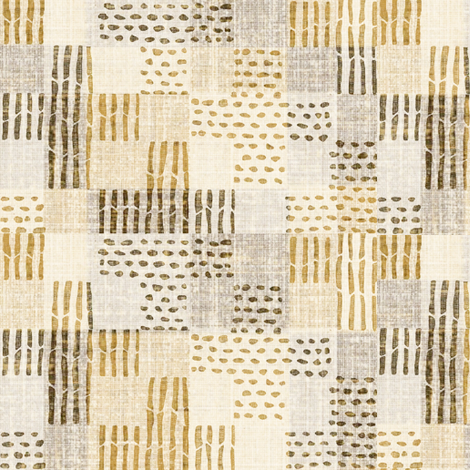 sticks & stones - gray, brown caramel fabric by materialsgirl on Spoonflower - custom fabric