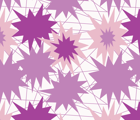 pinkish stars fabric by sewbiznes on Spoonflower - custom fabric