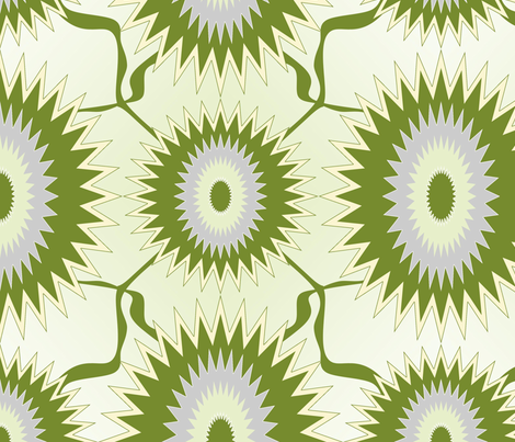 green_sun_flowers fabric by sewbiznes on Spoonflower - custom fabric