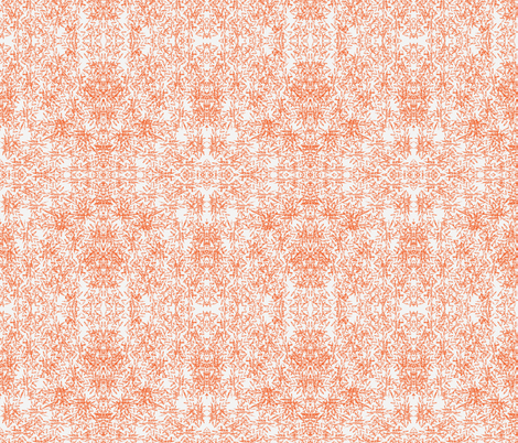 squiggly orange fabric by sewbiznes on Spoonflower - custom fabric