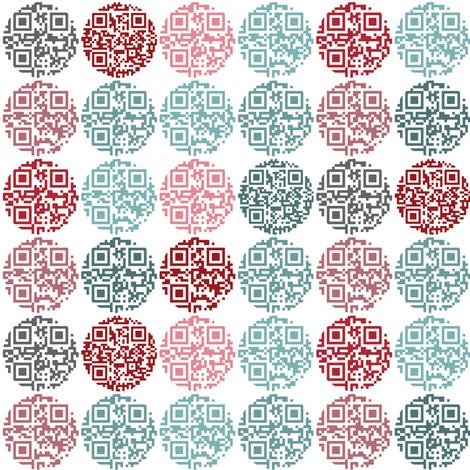 Spot the QR code fabric by ebygomm on Spoonflower - custom fabric