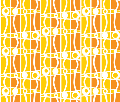 striped mod walking on sunshine fabric by glimmericks on Spoonflower - custom fabric