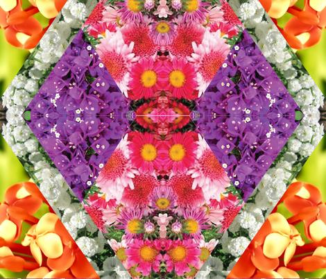 floral fabric by alicewark on Spoonflower - custom fabric