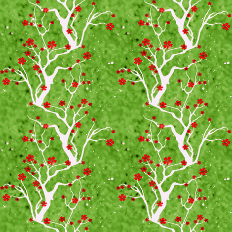 red delicious blossoms fabric by keweenawchris on Spoonflower - custom fabric