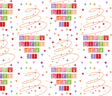 Happy Birthday fabric by silkescraps on Spoonflower - custom fabric