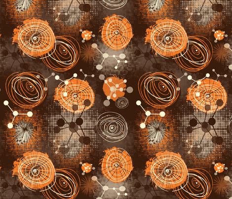 molecules fabric by kociara on Spoonflower - custom fabric