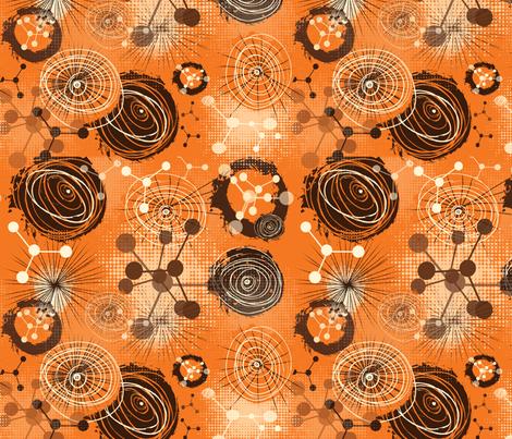 molecules 2 fabric by kociara on Spoonflower - custom fabric