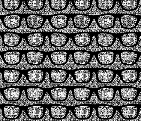geek chic glasses with 2d bar codes fabric by katarina on Spoonflower - custom fabric