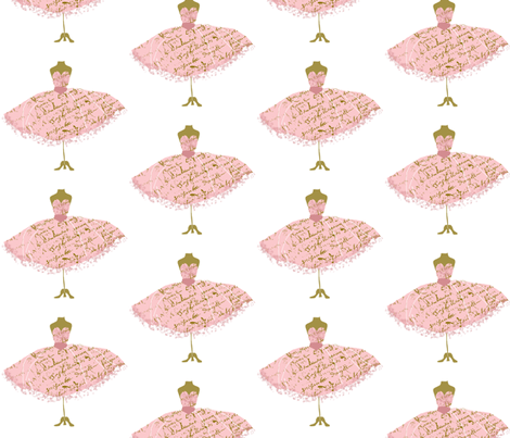 Ooh La Lah Dressform fabric by karenharveycox on Spoonflower - custom fabric