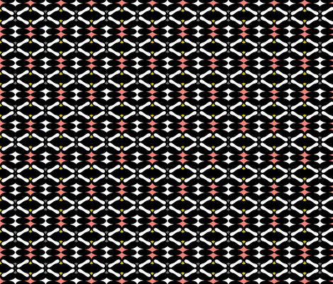 kiss: mustache diamond salmon fabric by katarina on Spoonflower - custom fabric