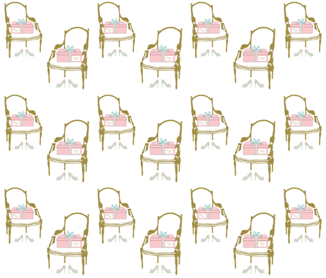 Milllie's Dress Shop Chairs fabric by karenharveycox on Spoonflower - custom fabric