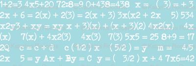maths blue
