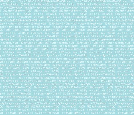 maths blue fabric by katarina on Spoonflower - custom fabric
