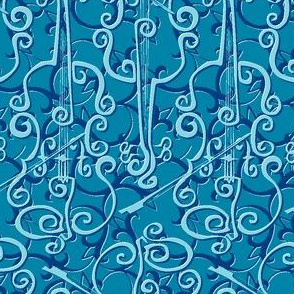 VIOLIN adante flourish blue