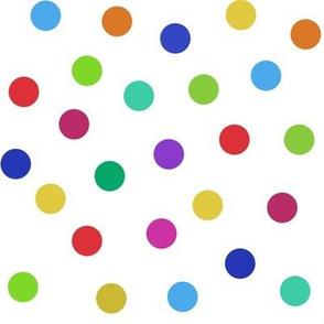 rainbow confetti dots