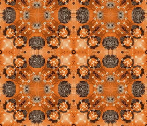 molecules 6 fabric by kociara on Spoonflower - custom fabric