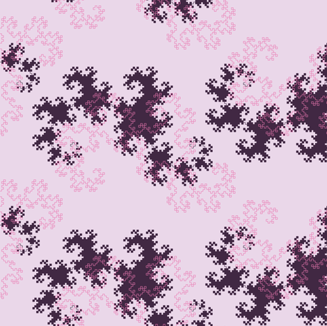 Dragon curve (pink) fabric by petitspixels on Spoonflower - custom fabric