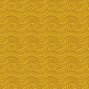hurly-swirly in mustard
