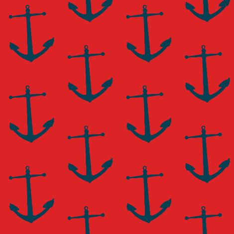hoist the anchor! fabric by mezzime on Spoonflower - custom fabric