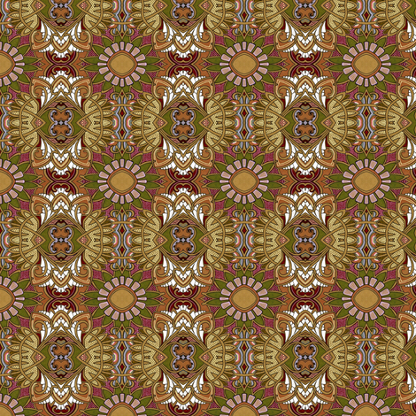 The Chocolate Meadows fabric by edsel2084 on Spoonflower - custom fabric