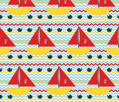 King Whale Yacht Club fabric by saraelizabeth on Spoonflower - custom fabric