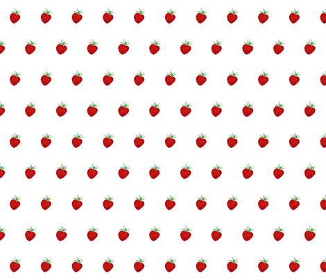 Strawberries fabric by de-ann_black on Spoonflower - custom fabric