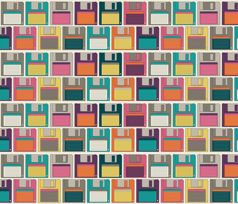 Floppy Disks fabric by meg56003 on Spoonflower - custom fabric