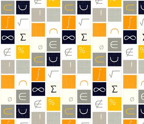 Math Geek Chic fabric by lauriebaars on Spoonflower - custom fabric