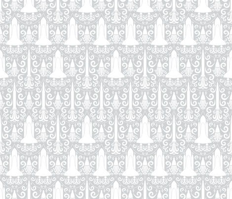Rocket Science Damask fabric by robyriker on Spoonflower - custom fabric