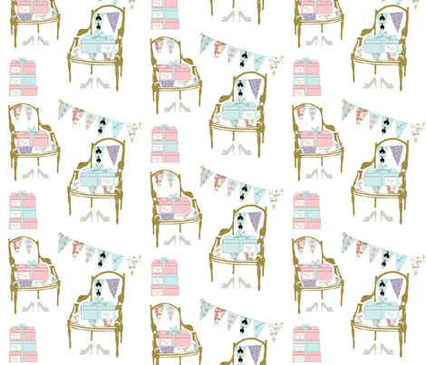 Millie's French Chairs fabric by karenharveycox on Spoonflower - custom fabric