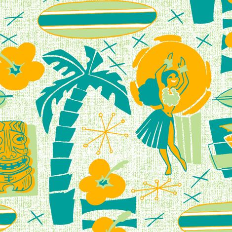 Mid-Century Tiki fabric by aimee on Spoonflower - custom fabric