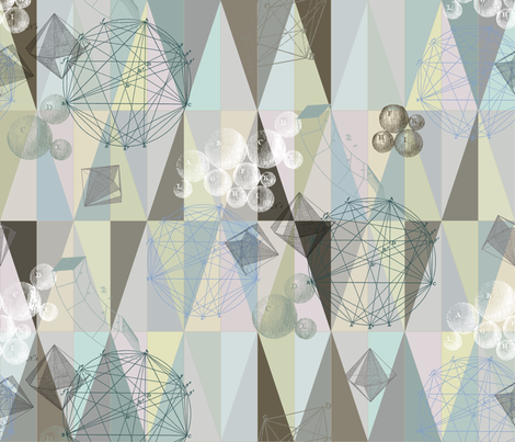 small pastel geometry fabric by saltlabs on Spoonflower - custom fabric