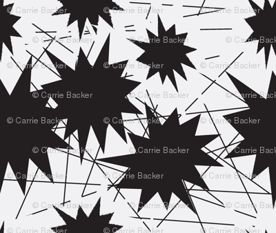 Stars and Lines black