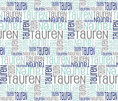 Personalised Name Design -Tauren fabric by shelleymade on Spoonflower - custom fabric