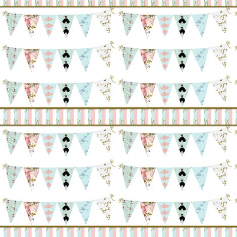 Dress Shop Bunting Stripe fabric by karenharveycox on Spoonflower - custom fabric