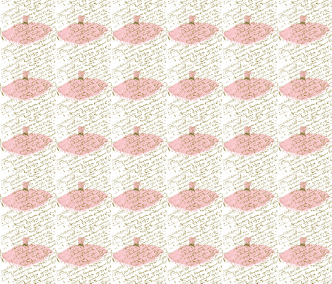 Ooh La Lah Pink Dress with white background-ch fabric by karenharveycox on Spoonflower - custom fabric