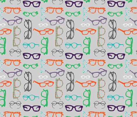 Geeky Spectacles fabric by emilyannstudio on Spoonflower - custom fabric