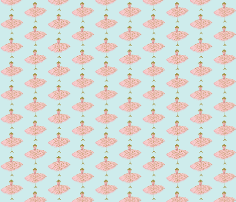 Ooh La Lah dressform on Tiffany_Blue fabric by karenharveycox on Spoonflower - custom fabric