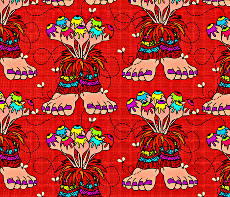 Big Dancing Wazzuzzis fabric by glimmericks on Spoonflower - custom fabric