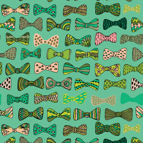 Bow tie geek fabric by akwaflorell on Spoonflower - custom fabric