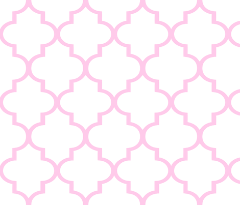 Pink and White Quatrefoil fabric by willowlanetextiles on Spoonflower - custom fabric